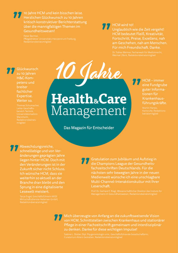 10 Jahre Health&Care Management